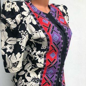 Lillie Rubin Vintage Jacket Top Skirt Set Size S